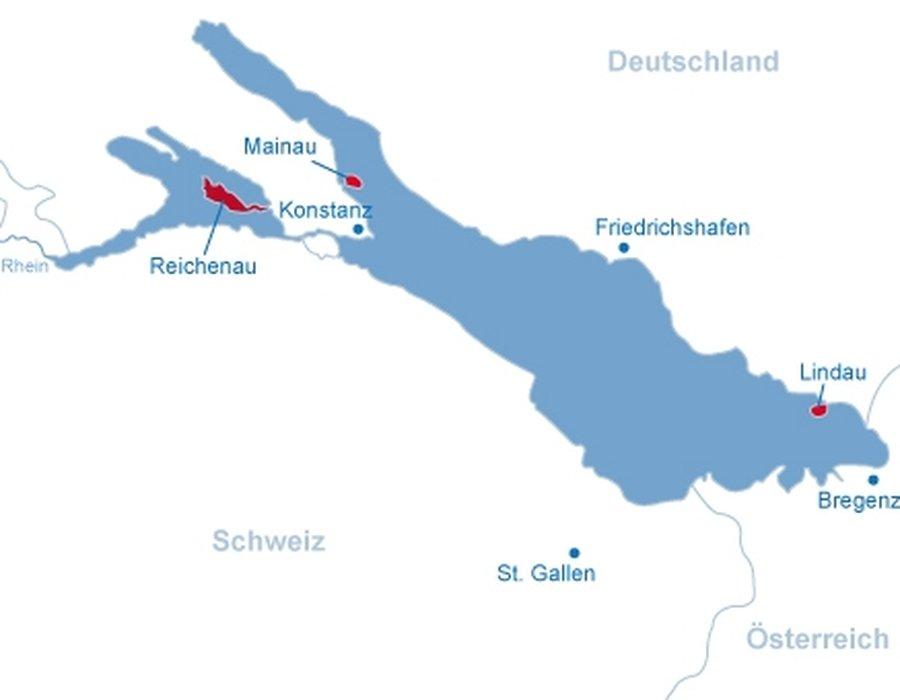 städte am bodensee karte Orte und Inseln am Bodensee | Bodensee | Seen.de