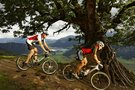 Mountainbiker in den Bergen am Walchsee